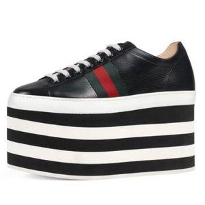 Gucci Peggy Stripe Platform Sneakers